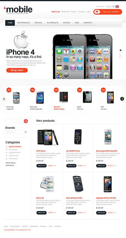 ZenCart Template 32793 Main Page Screenshot