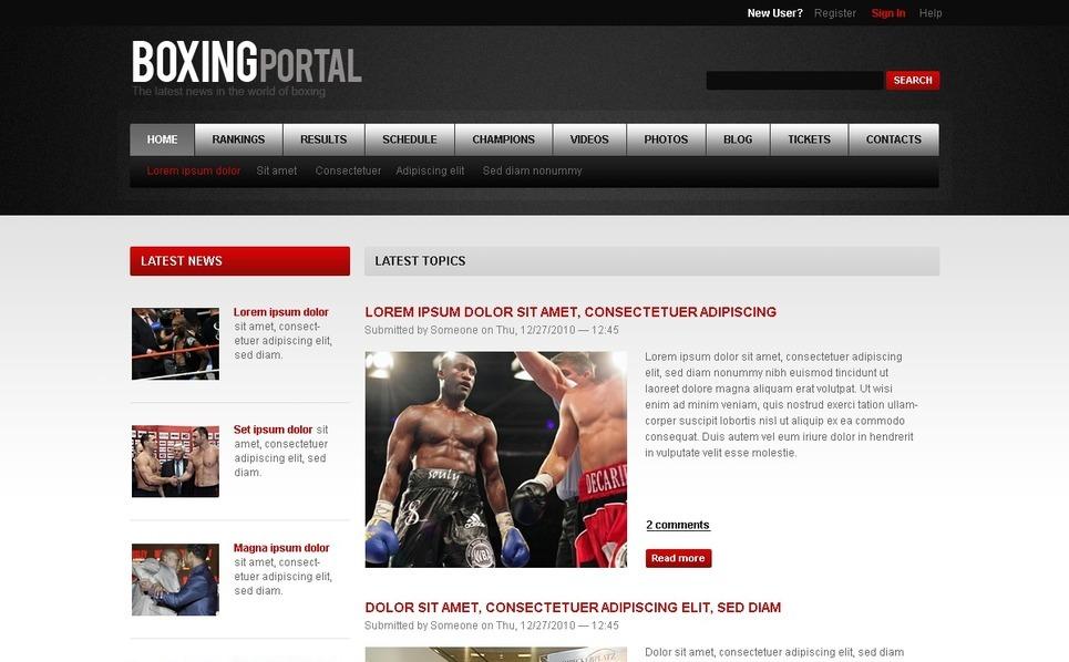 Szablon Drupal #32834 na temat: boks New Screenshots BIG