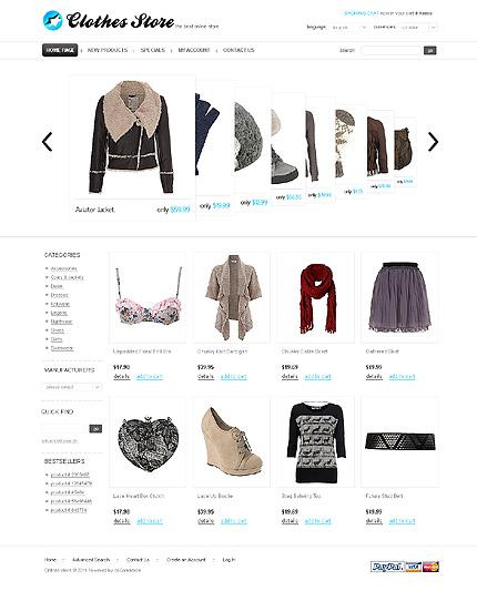 osCommerce Template 32838 Main Page Screenshot