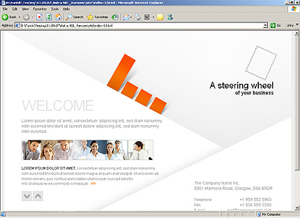 HTML Template 32858 Home Page Screenshot