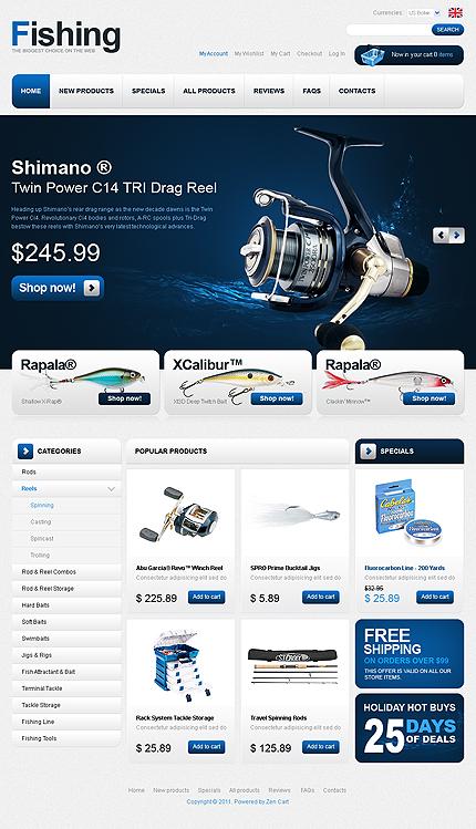 ZenCart Template 32898 Main Page Screenshot