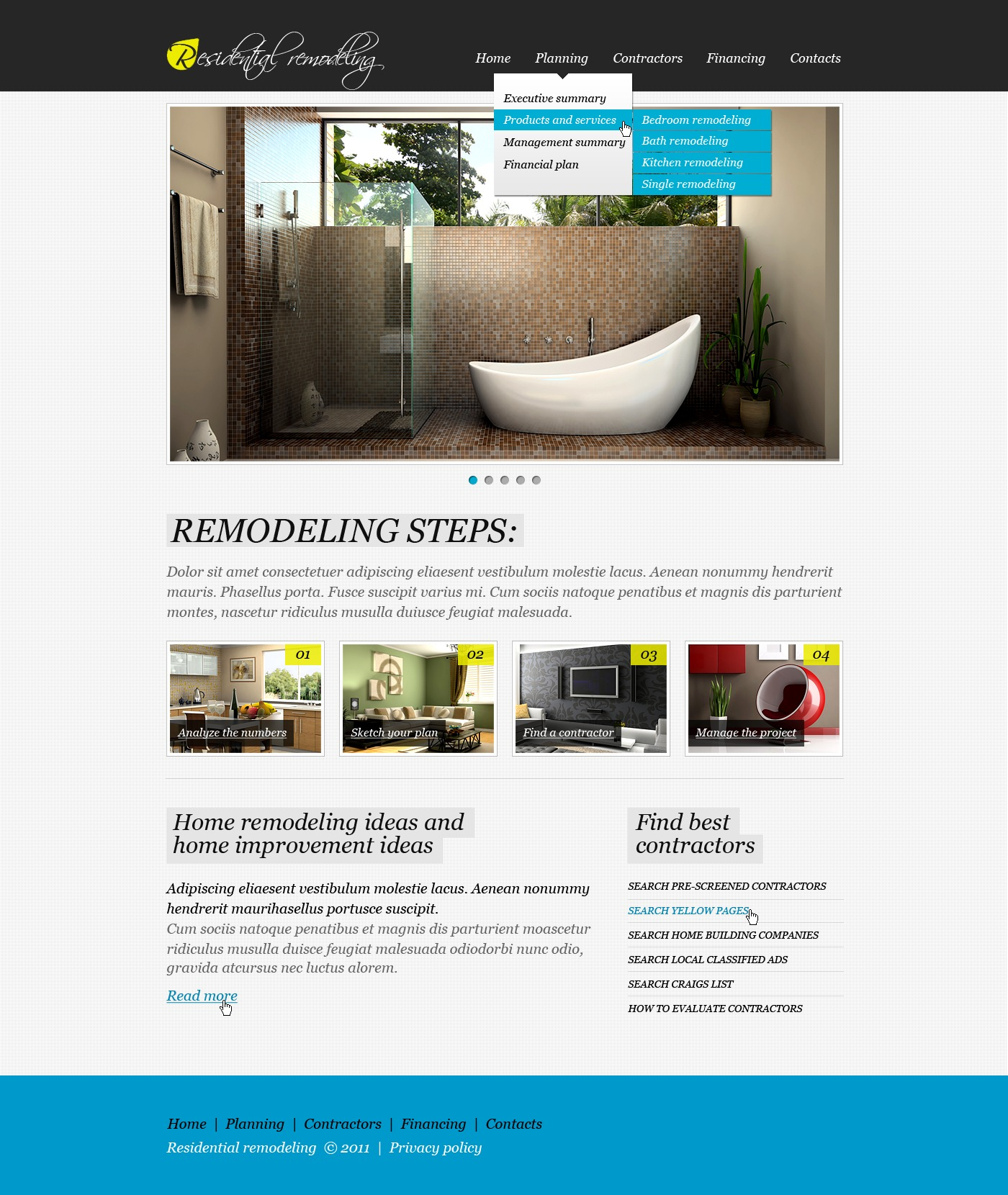 Home Remodeling Website Template #32842
