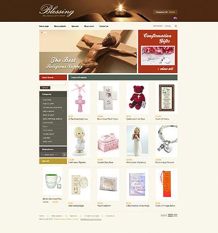 osCommerce Template 32928 Main Page Screenshot