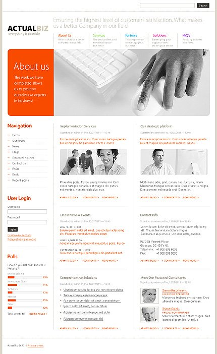 Drupal Template 32948 Main Page Screenshot