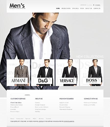 ADOBE Photoshop Template 32991 Home Page Screenshot