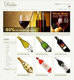 Food & Drink osCommerce  Template 33006