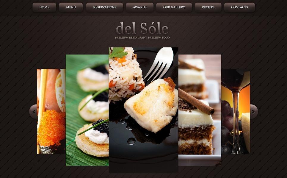 Szablon Flash CMS #33053 na temat: kawiarnia i restauracja New Screenshots BIG
