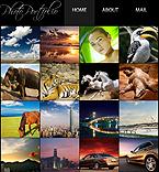 Art & Photography Facebook Flash CMS  Template 33109