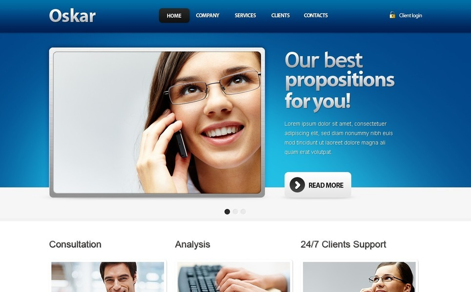 Szablon Drupal #33114 na temat: biznes i usługi New Screenshots BIG