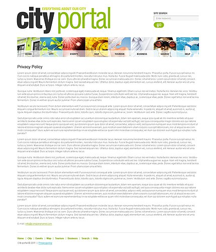 Template 33136 ( Content page Page ) ADOBE Photoshop Screenshot