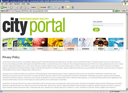 Template 33136 ( Content page Page ) HTML Screenshot