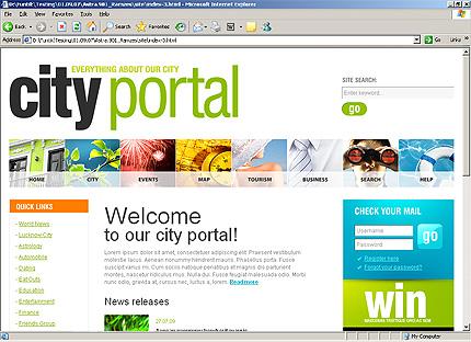 HTML Template 33136 Home Page Screenshot