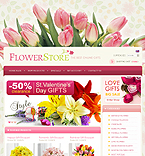 Flowers osCommerce  Template 33158