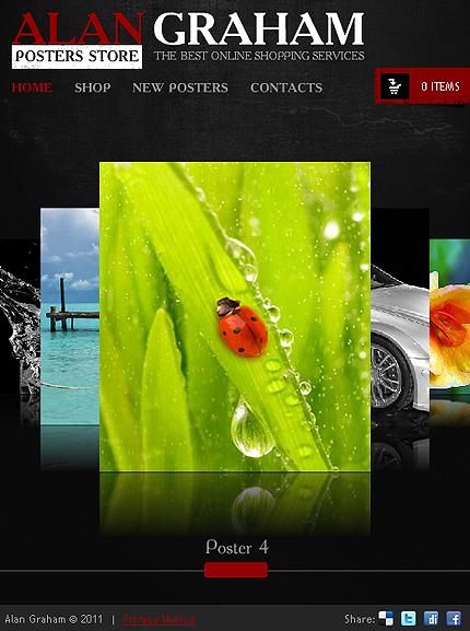 ADOBE Photoshop Template 33161 Home Page Screenshot
