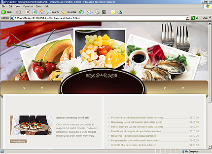 Template 33172 ( Menus Page ) HTML Screenshot