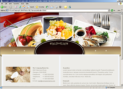 Template 33172 ( Contact Us Page ) HTML Screenshot