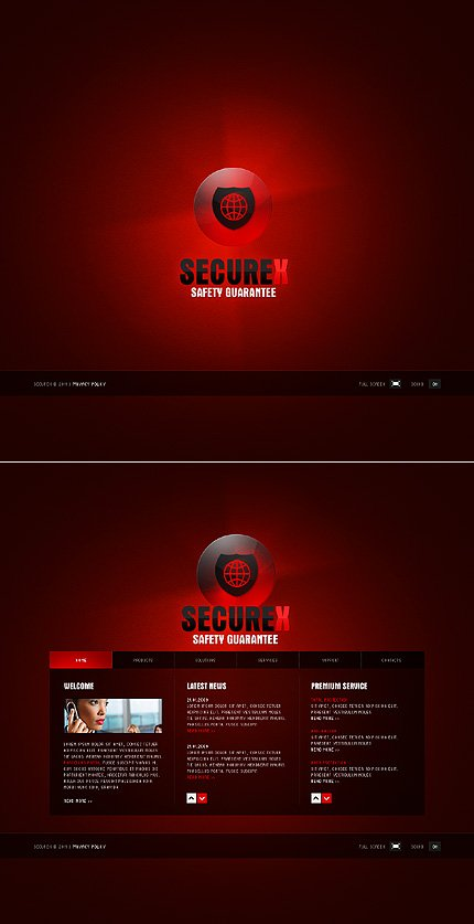 SWiSH Template 33173 Main Page Screenshot