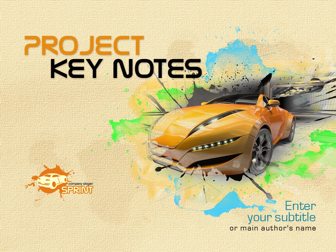 PowerPoint Template over Autohandelaar №33104