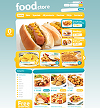 Food & Drink ZenCart  Template 33227