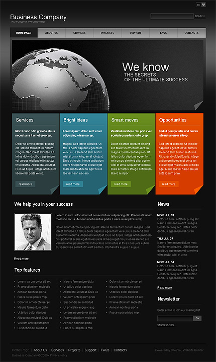 Turnkey Website Main Page