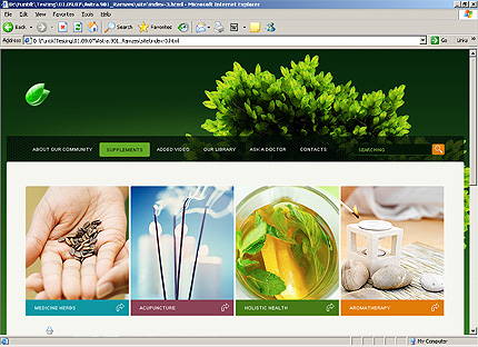Template 33365 ( Supplements Page ) HTML Screenshot