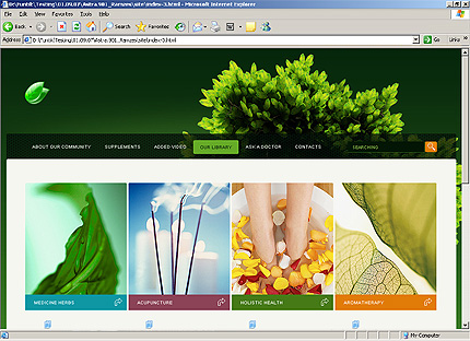 Template 33365 ( Our Library Page ) HTML Screenshot