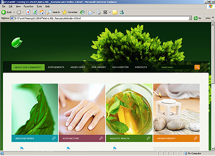 HTML Template 33365 Home Page Screenshot