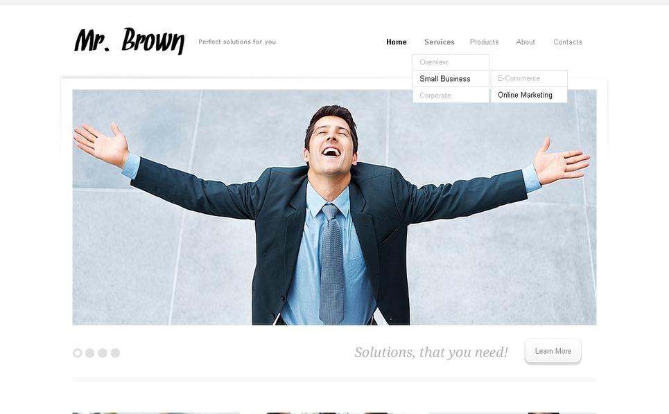Szablon Drupal #33375 na temat: biznes i usługi New Screenshots BIG