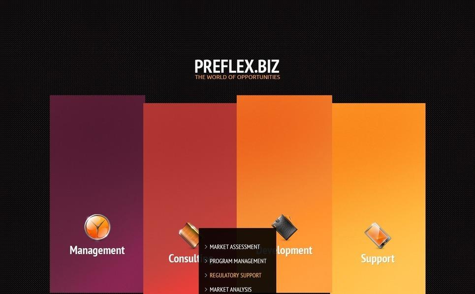 Plantilla Flash CMS #33460 para Sitio de Negocio y Servicios New Screenshots BIG