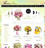 Flowers ZenCart  Template 33535