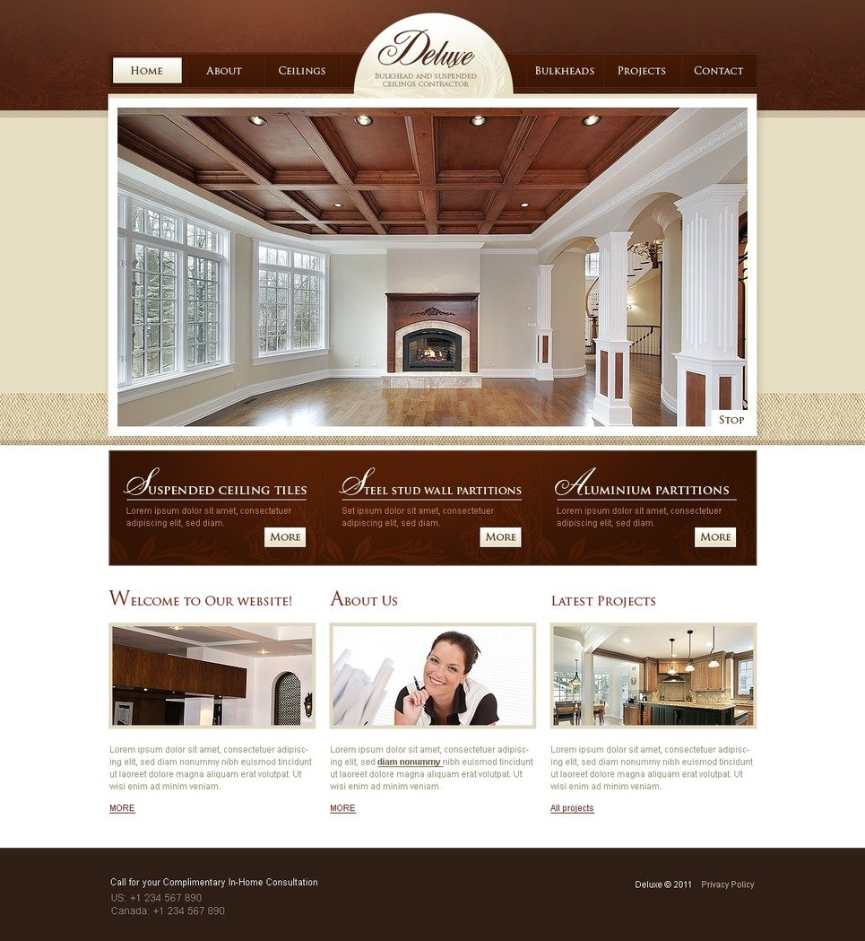 interior design website template 33547