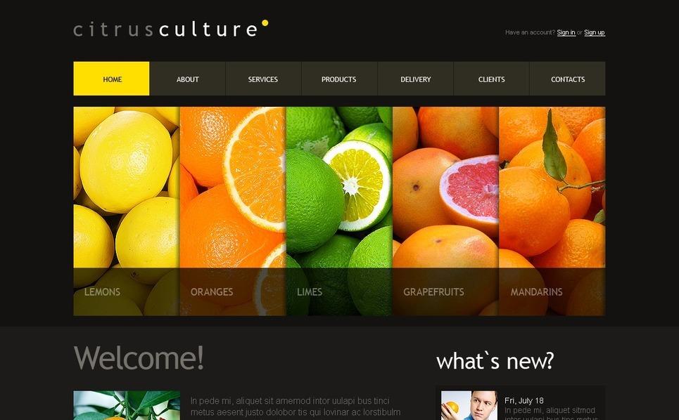 Drupal Vorlage für Fruit  New Screenshots BIG