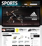 Sport ZenCart  Template 33586
