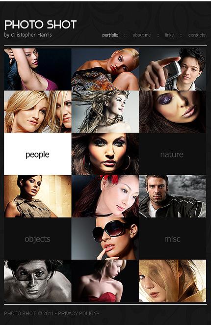 ADOBE Photoshop Template 33597 Home Page Screenshot