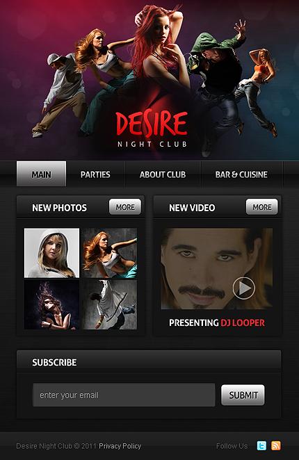 ADOBE Photoshop Template 33598 Home Page Screenshot