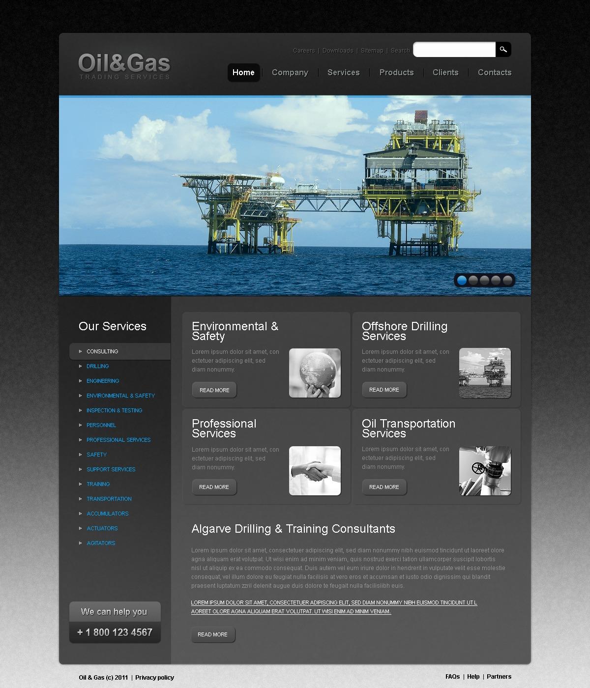 gas oil website template 33544. Black Bedroom Furniture Sets. Home Design Ideas