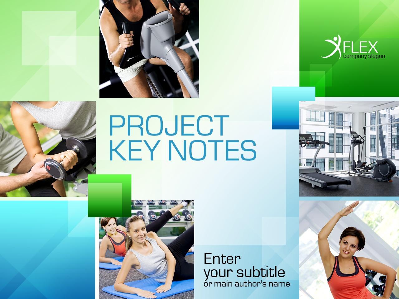 Tema PowerPoint #33555 per Un Sito di Fitness - screenshot