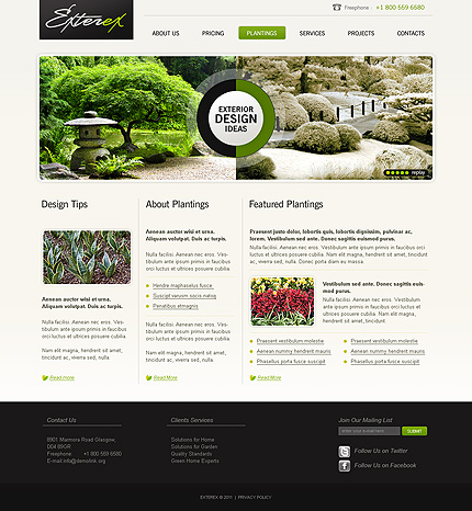 Template 33601 ( Plantings Page ) ADOBE Photoshop Screenshot