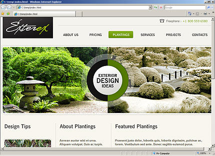 Template 33601 ( Plantings Page ) HTML Screenshot
