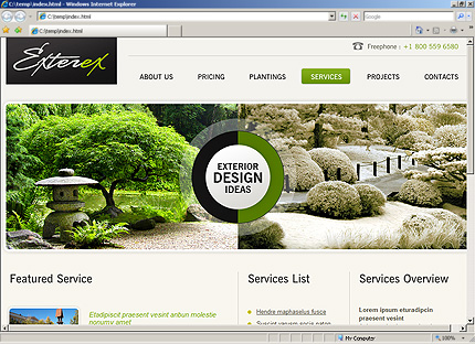 Template 33601 ( Services Page ) HTML Screenshot