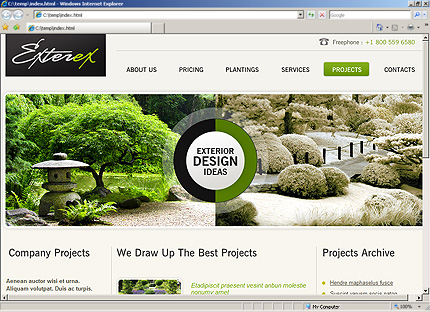 Template 33601 ( Projects Page ) HTML Screenshot