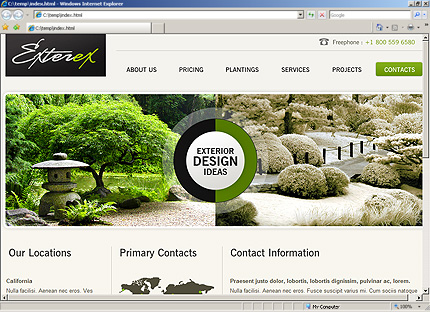 Template 33601 ( Contacts Page ) HTML Screenshot