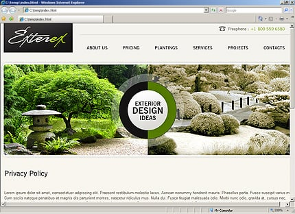 Template 33601 ( Privacy Policy Page ) HTML Screenshot