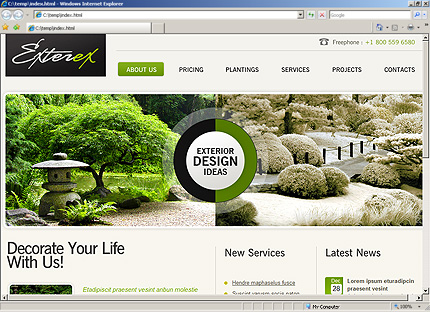 HTML Template 33601 Home Page Screenshot