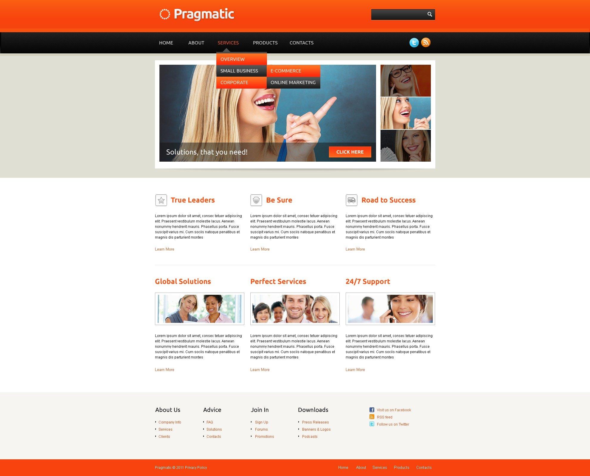 Modello siti web per un sito di consulenza for Siti web di costruzione domestica