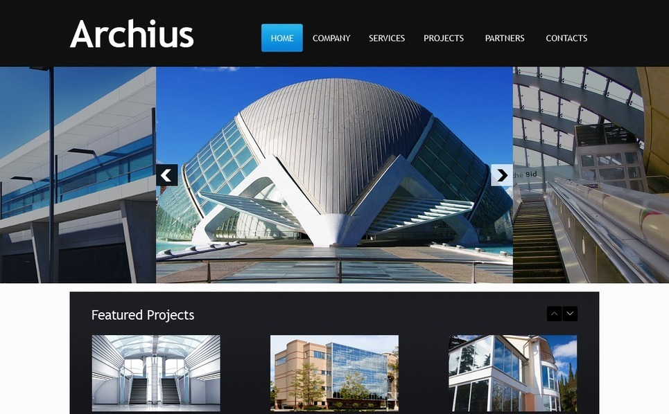Plantilla web 33779 para sitio de arquitectura for Arquitectura sitio web
