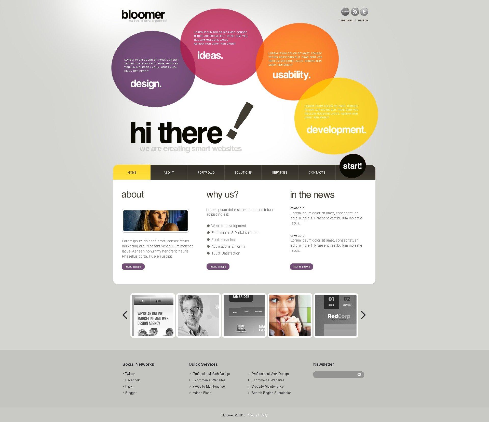 WordPress шаблон на тему веб дизайн №33789 - скріншот