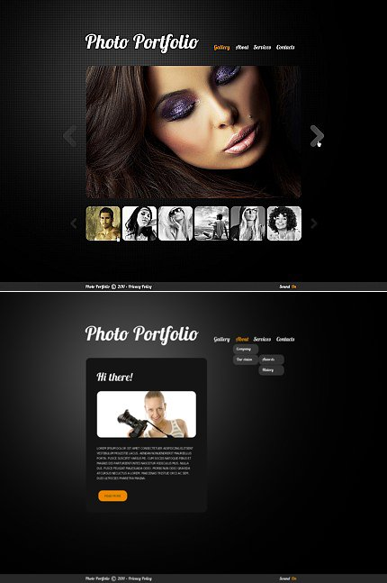 ADOBE Photoshop Template 33820 Home Page Screenshot