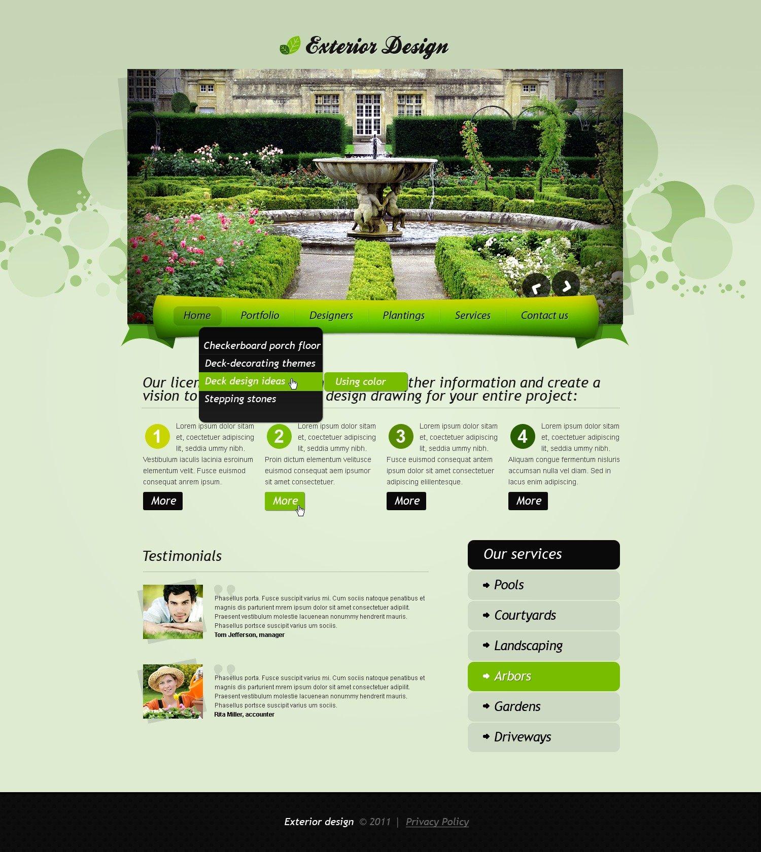 Exterior design website template 33886 exterior design website template maxwellsz