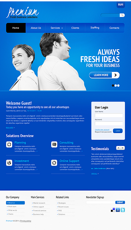 Drupal Template 33953 Main Page Screenshot